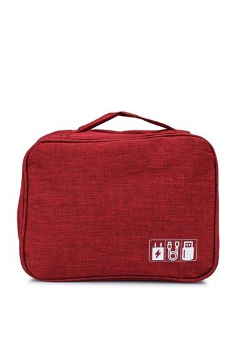 Bagstationz 紅色 Cationic 旅行收納包 5703CACF7A3172GS_1