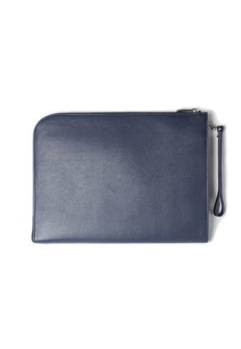 Maverick & Co. blue and navy Maverick & Co. Atlas Leather Macbook Clutch Navy 72C9FAC9031F62GS_1