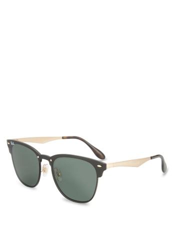 Ray-Ban 金色 Blaze Clubmaster RB3576N Sunglasses RA896GL73GSGMY_1