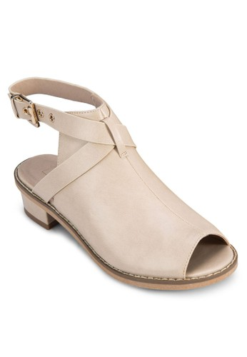 zalora 評價Birt 繞踝鏤空魚口短靴, 女鞋, 鞋
