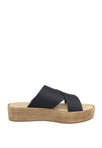 London Rag black Freida Flatform Sandals DC723SH82AACE0GS_1
