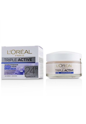 L'Oréal L'ORÉAL - Triple Active Hydrating Night Cream 24H Hydration - For All Skin Types 50ml/1.7oz E62F7BE9D0F739GS_1