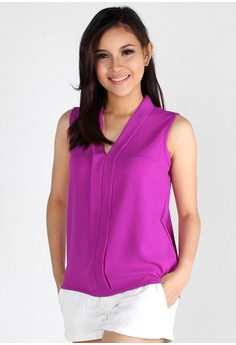 Candy Colored Chiffon Top