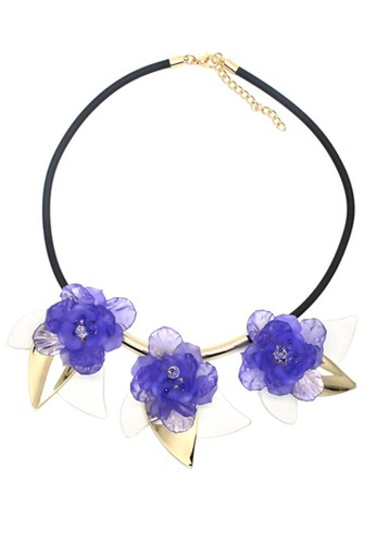 Istana Accessories purple Kalung Seril Flower Fashion Necklace E52FCACC79F606GS_1