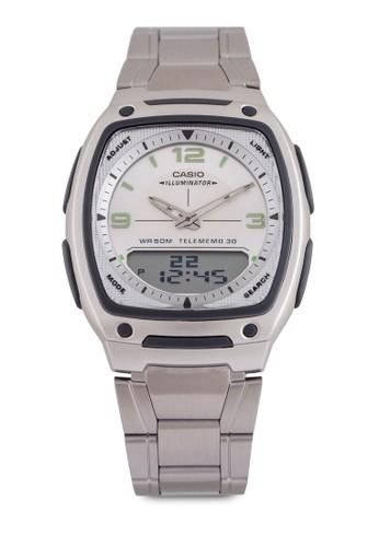 Casio AW-81D-7AVDF 雙顯不銹鋼zalora 包包 ptt錶, 錶類, 錶類
