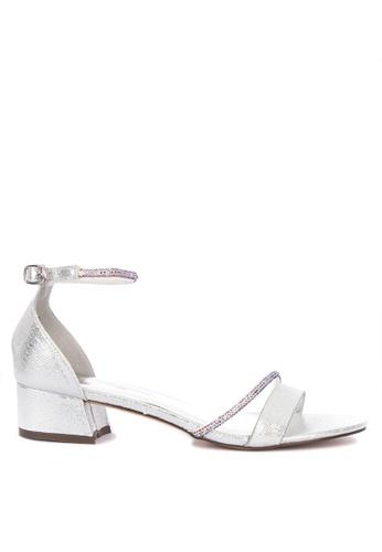 e1b1c55320a6 CLN silver Selenite Metallic Ankle Strap Low Heel Sandals 7220DSH503F89BGS 1
