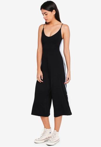 Factorie black Flare Stripe Jumpsuit CA382AA01BDBDEGS_1