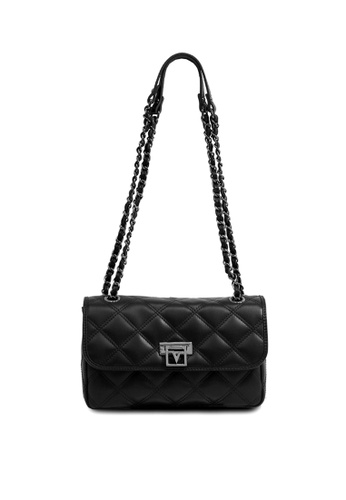 138371706c28 Valentino Rudy black Valentino Rudy Quilted Microfiber Crossbody Bag  6C078AC3978601GS 1