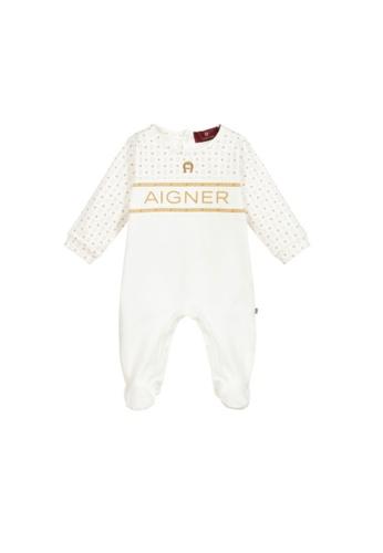 AIGNER KIDS white AIGNER BABY ROMPER 4B24FKAAC6DEEEGS_1