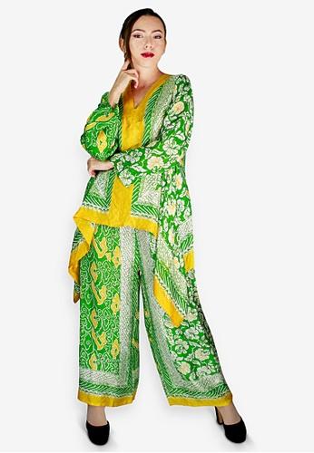 PANGOI yellow and green and multi PANGOI Exclusive Babyfly Viscose Batik Modern Muslimah Wear 6250FAA8B5BD33GS_1