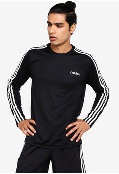 0128812f1611 adidas black adidas m d2m 3 stripe long sleeve tee FCC52AAD2F7855GS_1