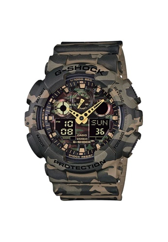 G-shock 綠色 CASIO G-SHOCK MEN SPORT WATCH GA-100CM-5ADR ACB51AC05E85D4GS_1