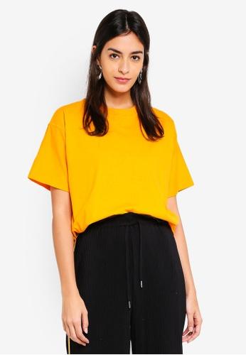 TOPSHOP yellow Petite Boxy T-Shirt B4CCDAAF3A762FGS_1