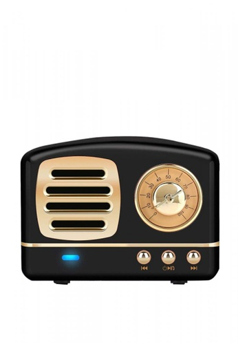 Latest Gadget black Multifunction Retro Design Bluetooth Speaker 889D4AC750D4D4GS_1