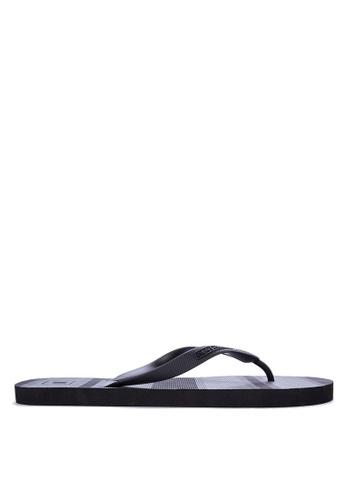 Penshoppe black Rubber Flip Flops 5ACC0SHA2A56CEGS_1