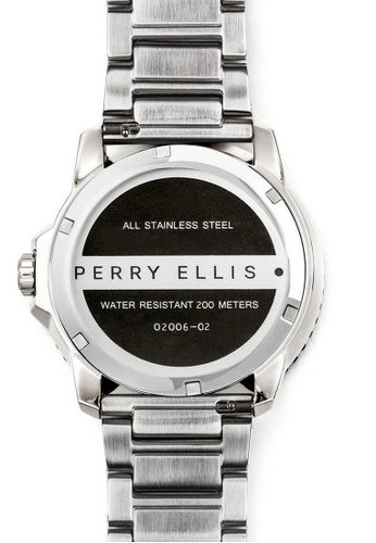 3db3930264368 Buy Perry Ellis Perry Ellis Deep Diver Men 46mm Quartz Stainless Steel  Watch 02006-02 Online on ZALORA Singapore