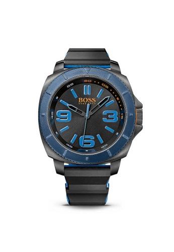BOSS black and blue Hugo Boss Orange Sao Paulo Silicone Strap Quartz Watch A3C49AC4469DF8GS_1