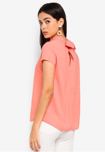 Dorothy Perkins pink Coral Turn Back Top E97DAAA0BD9F14GS_1