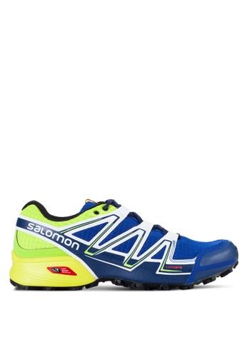 Salomon blue and multi Speedcross Vario Shoes F9214SH38C9025GS_1
