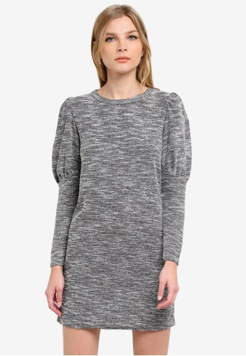 Miss Selfridge grey Grey Boucle Jumper Dress MI665AA0S6FFMY_1
