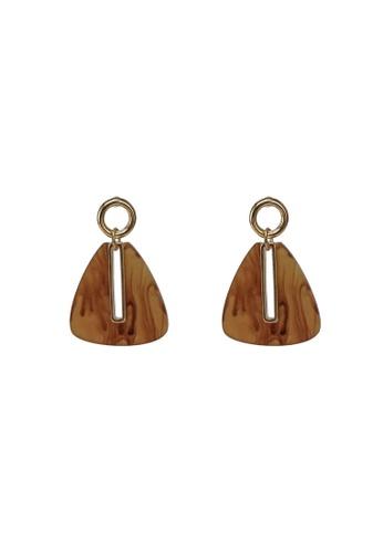 niko and ... brown Triangle Drop Earrings 37E82AC1E0BF7FGS_1