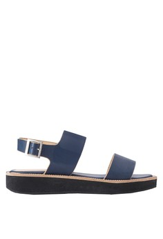 【ZALORA】 Detail Chain Platform Sandals