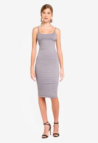 Supre grey Luxe Thin Strap Midi Dress D3549AA34CD356GS_1