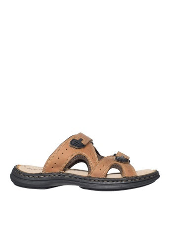 Hush Puppies brown Hush Puppies Men's Emilyo Slide Sandal - Tan 1858ESH32AFCF8GS_1