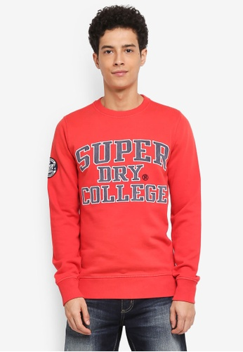 Superdry red Upstate Wash Crew Sweatshirt 7B31BAA48BBF1DGS_1
