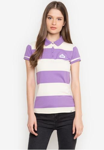 Stylistic Mr. Lee purple Short Sleeves Stripes Polo Shirt MR206AA0JXTRPH_1