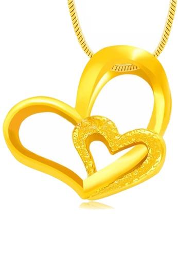 YOUNIQ gold YOUNIQ Premium Heart to Heart 24K Gold Plated Pendant 7D21CAC71EB6DFGS_1