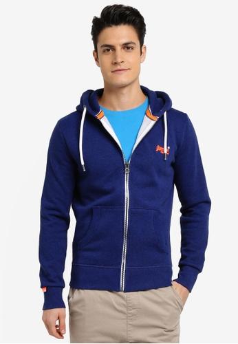 Superdry blue ORANGE LABEL ZIPHOOD 0A937AA160E055GS_1