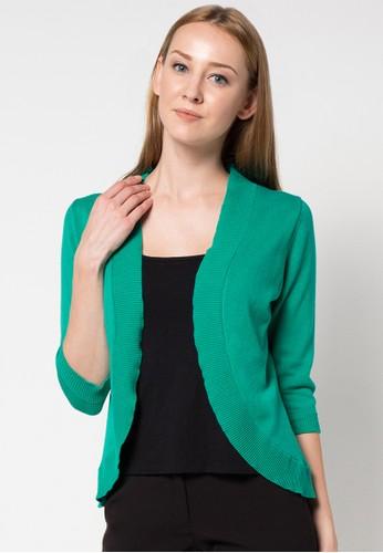 Noir Sur Blanc green Ladies 3/4 Sleeve NO321AA38MCBID_1