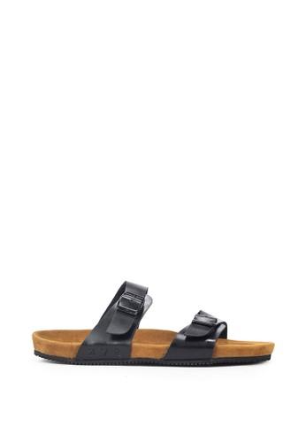 Navara brown Abel Black EVA Sandals F2171SHD8CB491GS_1