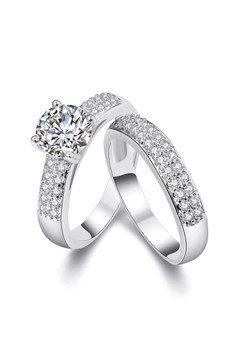 18k Plated Tower Ring (Cubic Zirconia)