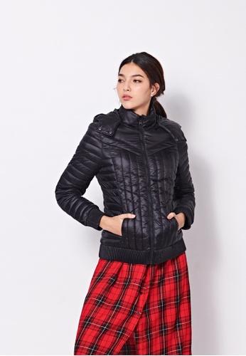 Sisley black Slim Fit Padded Jacket 822FEAAF28A19BGS_1