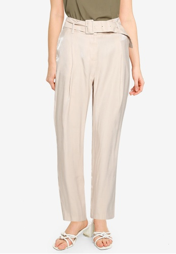 Dorothy Perkins white Shimmer Fabric Tailored Trousers 206D9AAE810256GS_1