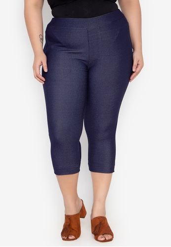 f3ac65f7e7a Shop Maxine Plus Size Capri Jeggings Online on ZALORA Philippines
