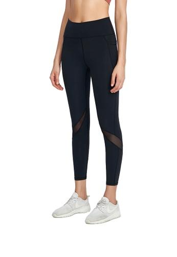 B-Code black ZWG1116-Lady Quick Drying Running Fitness Yoga Leggings-Black E87E2AAA41F284GS_1
