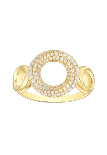 Vedantti yellow Vedantti 18K The Circle Trio-Max Ring in Yellow Gold AAC45AC2178EBCGS_1