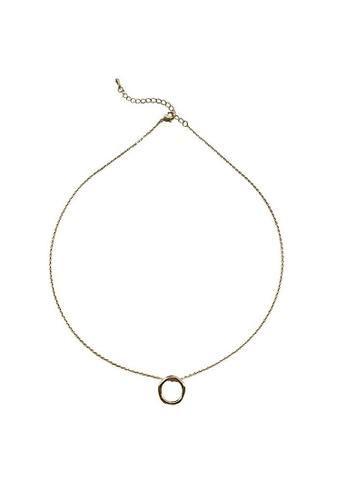 Glamorbit multi Gold Minimalist  Necklace 222ABACB780A5DGS_1