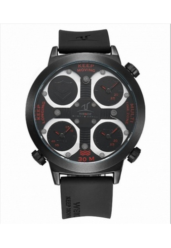 Weide red Weide Uv1503 Men's 3 Time Zone Universe Series Wristwatch(Red) WE079AC14RIZMY_1