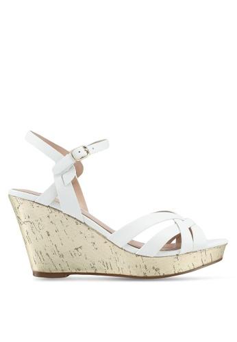 Miss KG white White Mid Heel Wedge Sandals C4926SHBCE77FBGS_1