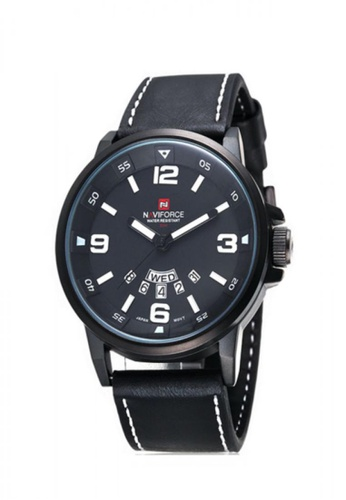 Fashion by Latest Gadget black and white Naviforce NF9028 30M Waterproof Analog Watch FA499AC85KBQPH_1