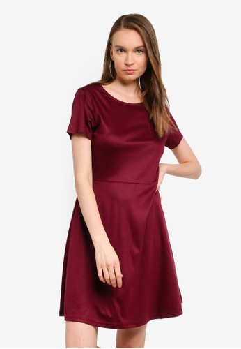 UniqTee red Core Womens Fit and Flare Dress 61053AA6FEB775GS_1