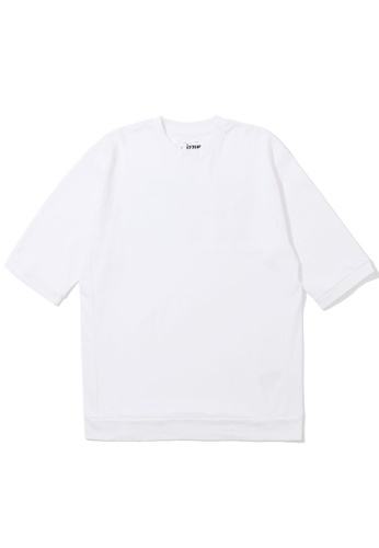 izzue white Slogan embroidered tee 3B440AA6A443B8GS_1