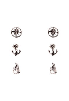 Anchor Earring Set