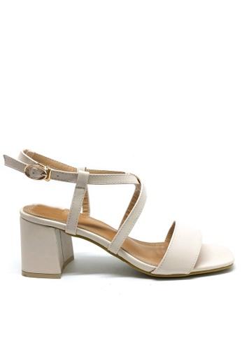 Twenty Eight Shoes white Cross Strap Mid Heel Sandal 36678-2 4D985SHFA07F48GS_1
