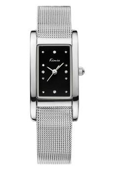 Kimio Rectangle Quartz Stainless Steel Mesh Strap Band Watch