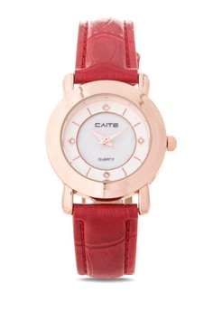 Leather Analog Watch M-836